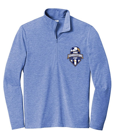Mens Tri-Blend Wicking 1/4-Zip Pullover