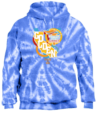 Tie-Dye Pullover Hooded Sweatshirt