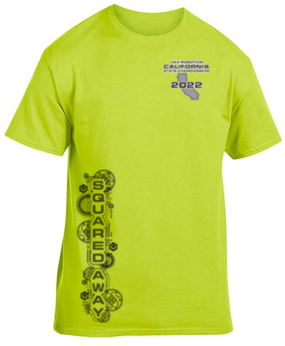 Cotton Short Sleeve T-Shirt Safety Green