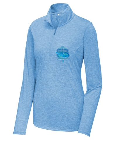 Ladies Tri-Blend Wicking 1/4-Zip