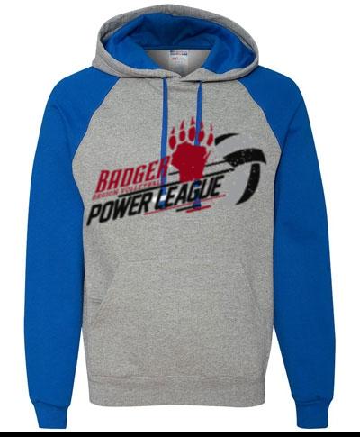 Colorblocked Raglan Hooded Sweatshirt