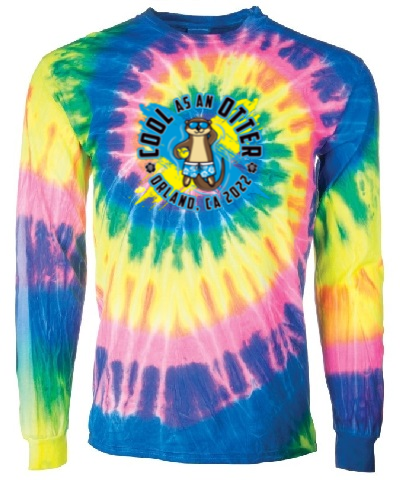 Spiral Tie Dye Long Sleeve Flo Rainbow