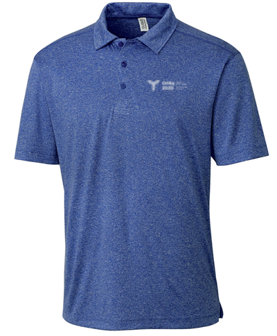 Royal Heather Polyester Active Short Sleeve Polo