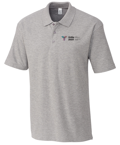 Grey Heather Polyester Active Short Sleeve Polo