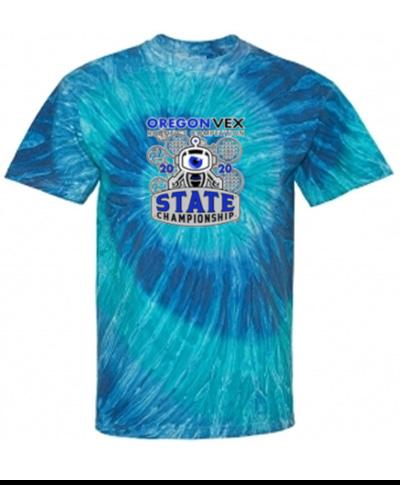 Blue or Black Ripple Tie Dye T-Shirt