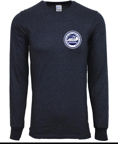 Ultra Cotton Long-Sleeve T-Shirt Heather Navy