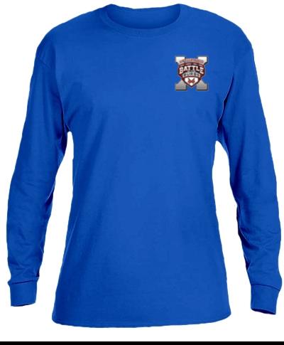 Cotton Long Sleeve T-Shirt / Royal Blue