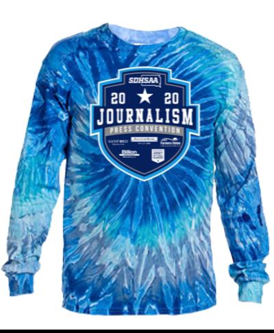 Cotton Long Sleeve T-Shirt / Tie Dye Blue Jerry