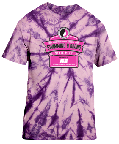 Cotton Short Sleeve T-Shirt / Tie Dye Purple