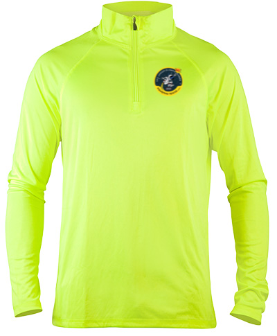 Quarter-Zip Neon Green Lightweight Pullover