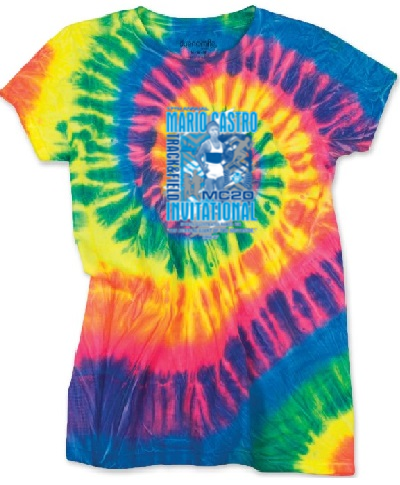 Spiral Tie Dye T-Shirt Flo Rainbow