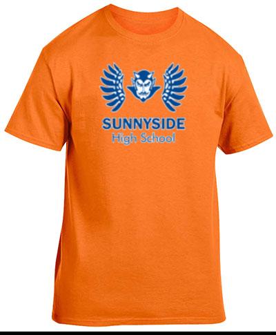 Cotton Short Sleeve T-Shirt Safety Orange