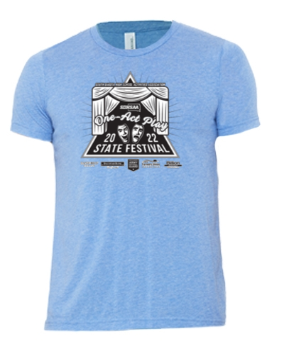 Tri-Blend Short Sleeve T-Shirt / Blue