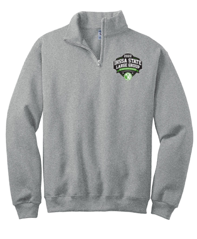 Quarter Zip Sweatshirt / Gray