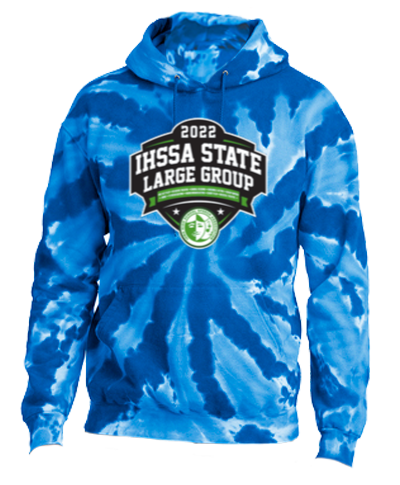 Cotton Hoody / Tie Dye Blue
