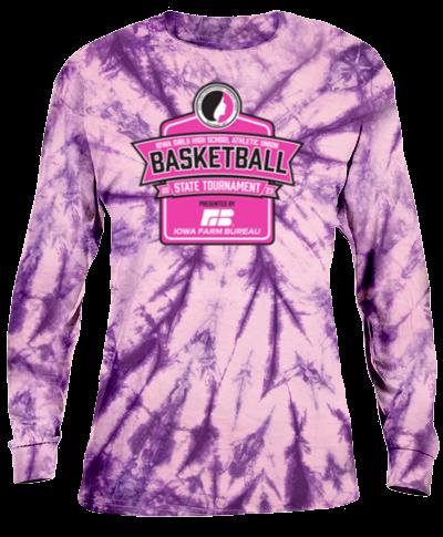 Cotton Long Sleeve T-Shirt / Tie Dye Purple