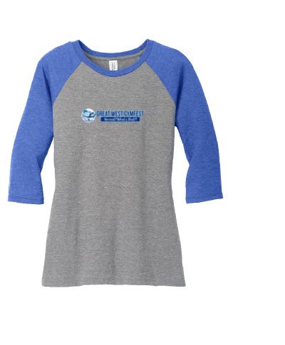 District Made Ladies Perfect Tri 3/4-Sleeve Raglan