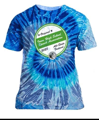 Cotton Short Sleeve T-Shirt / Tie Dye Blue Jerry