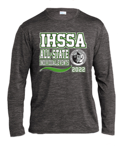 Long Sleeve Performance Tee / Black Electric
