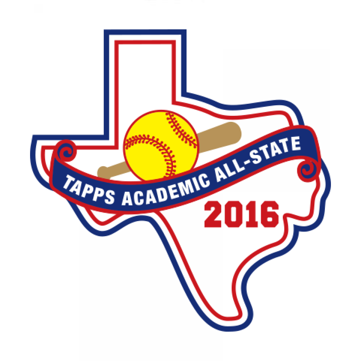 Felt TAPPS 2016 Softball Academic All-State Patch