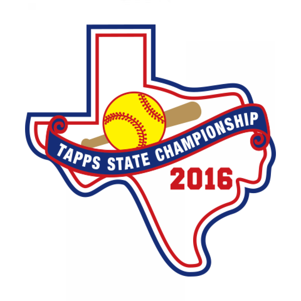 Felt TAPPS 2016 Softball State Patch