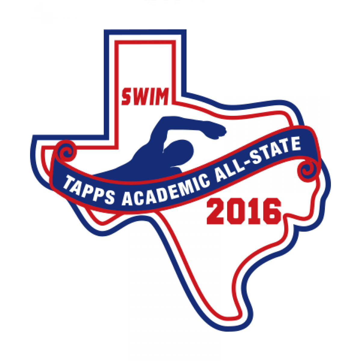 Felt TAPPS 2016 Swim Academic All-State Patch