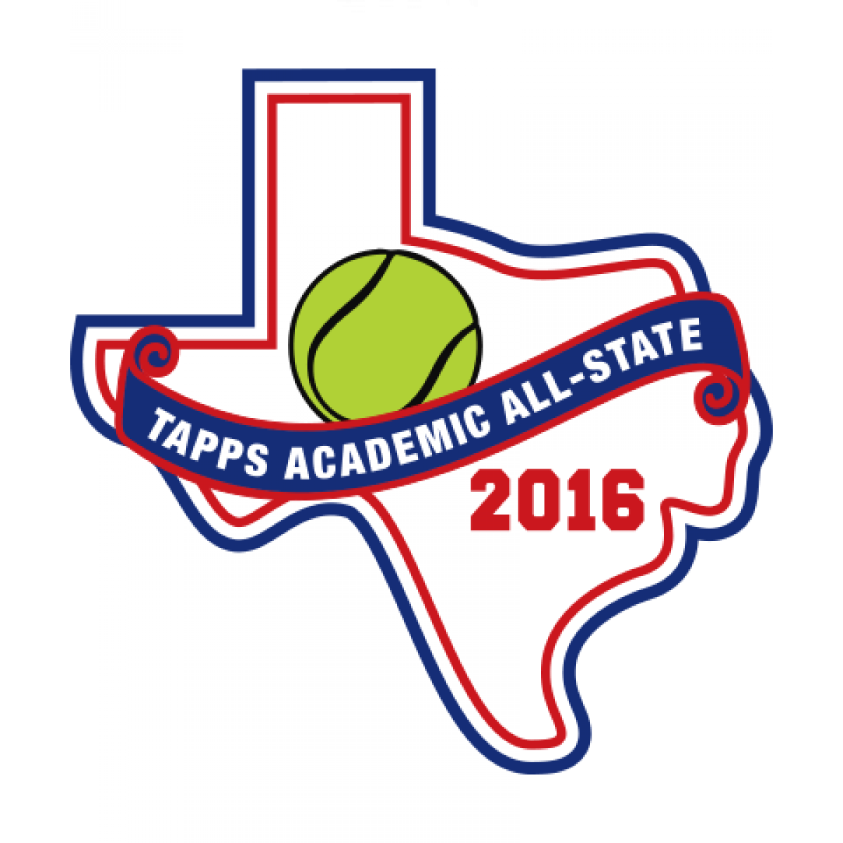 Felt TAPPS 2016 Tennis Academic All-State Patch