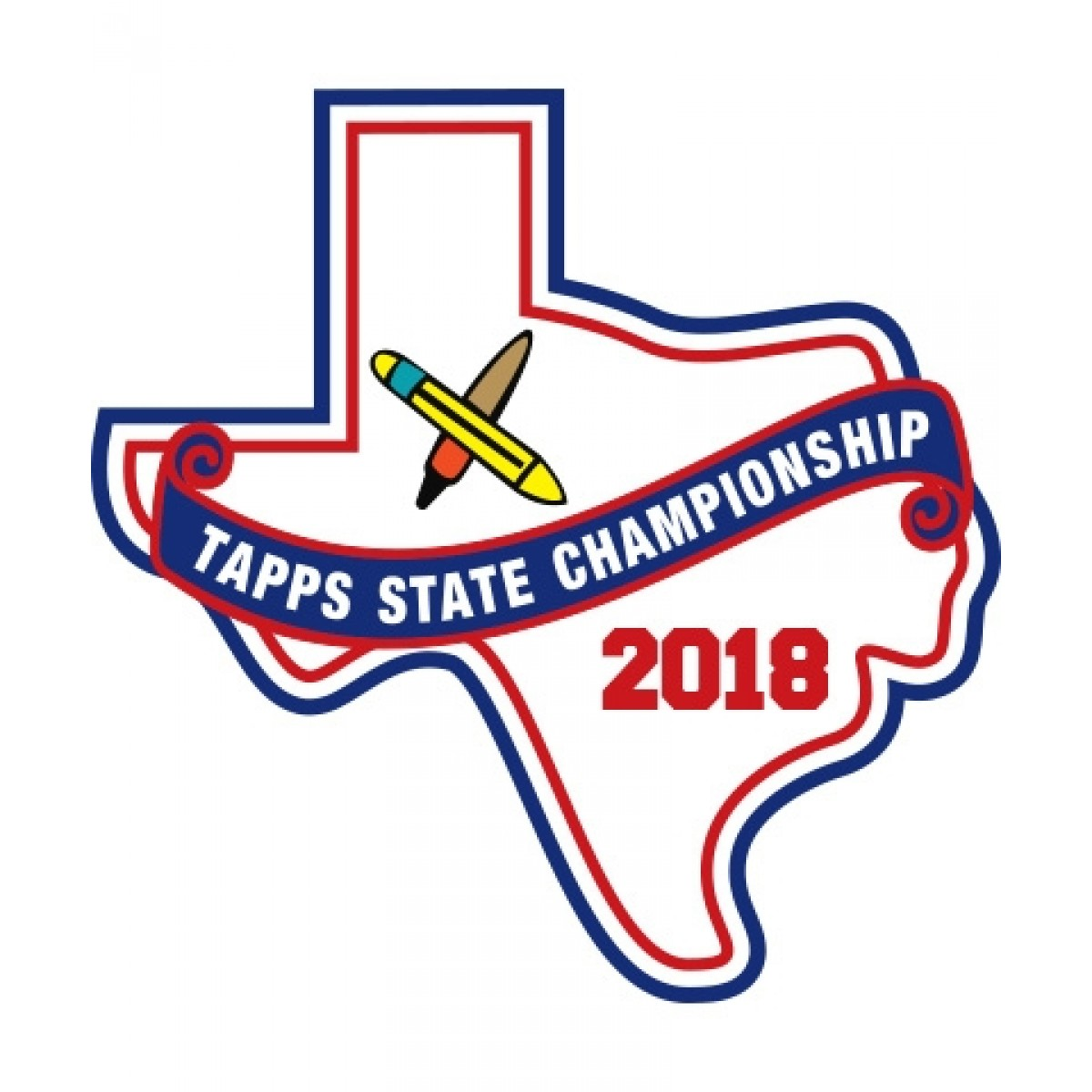 Chenille 2018 TAPPS Academic State Patch