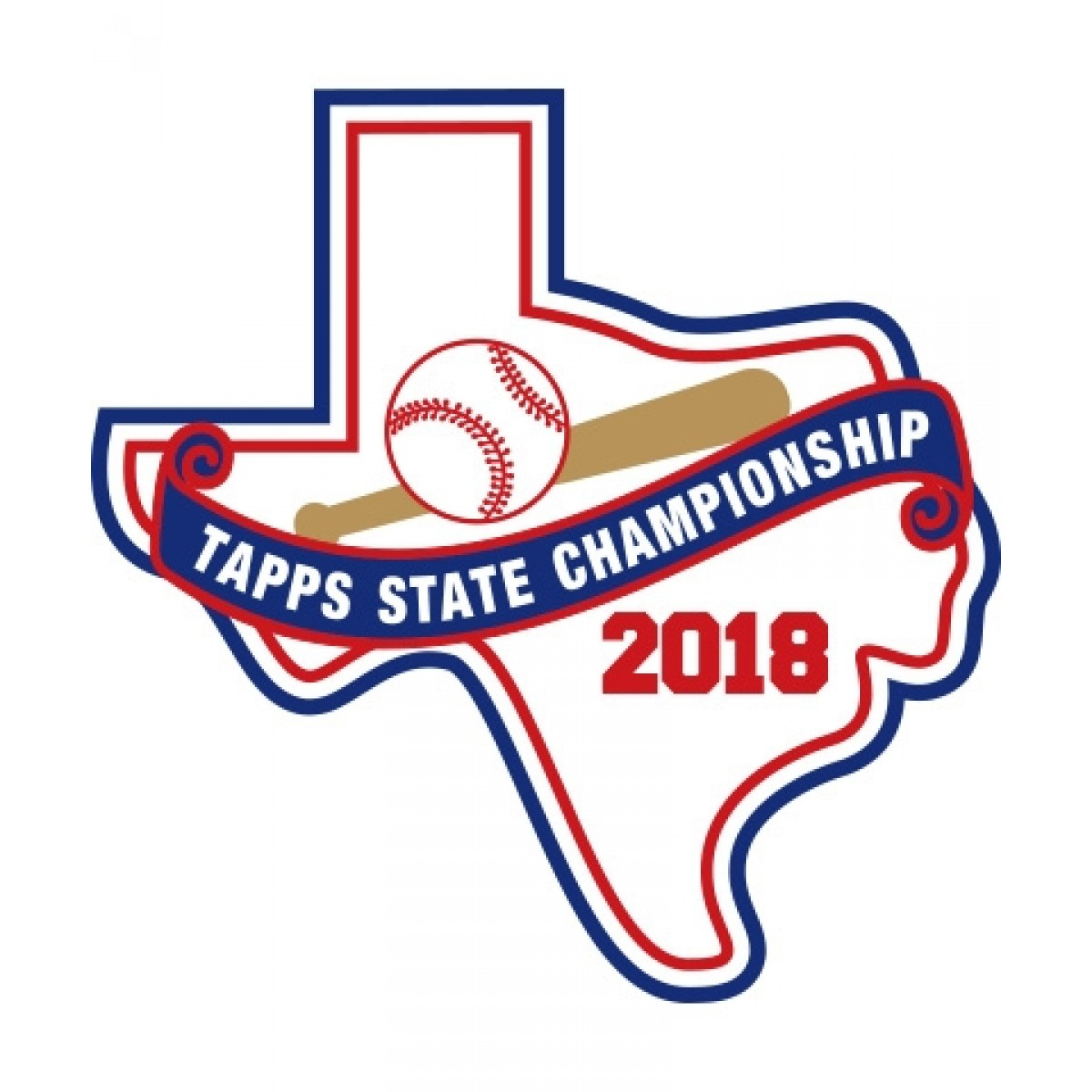 Chenille 2018 TAPPS Baseball State Patch