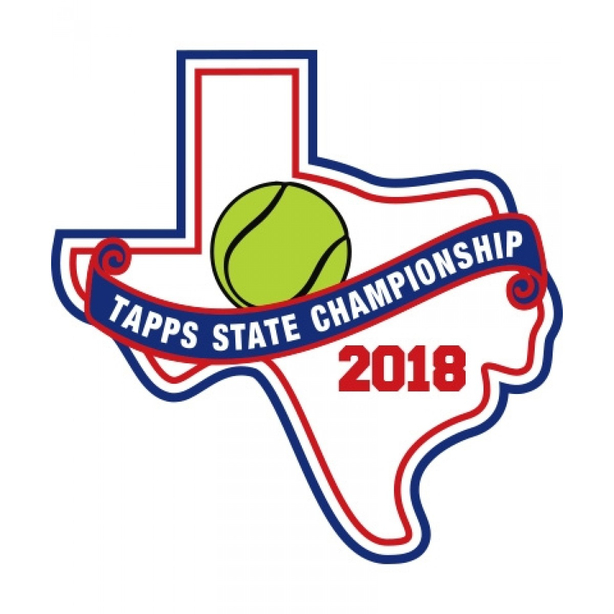 Chenille 2018 TAPPS Tennis State Patch