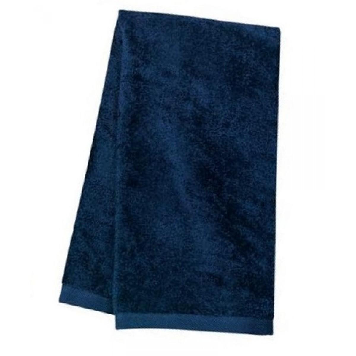 Navy Blue Terry Velour Towel