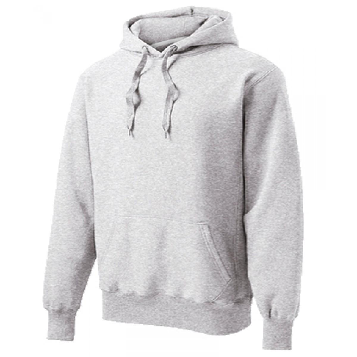 Hooded Sweatshirt 50/50 Heavy Blend Gray-Gray -YL