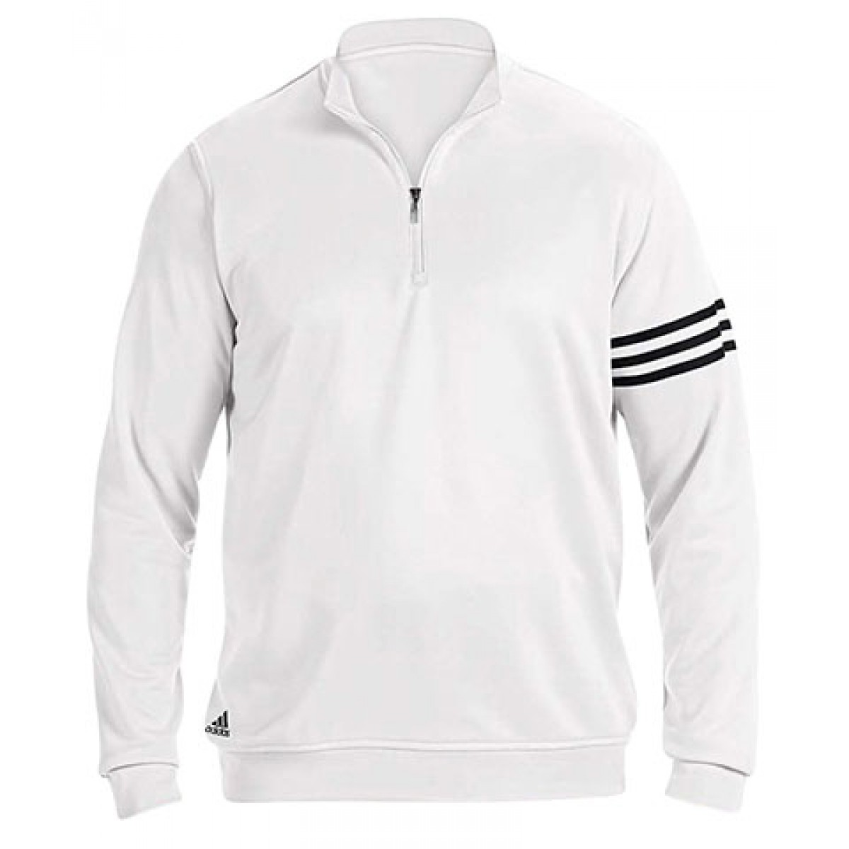 Adidas Men's 3-Stripes Pullover-White-XL