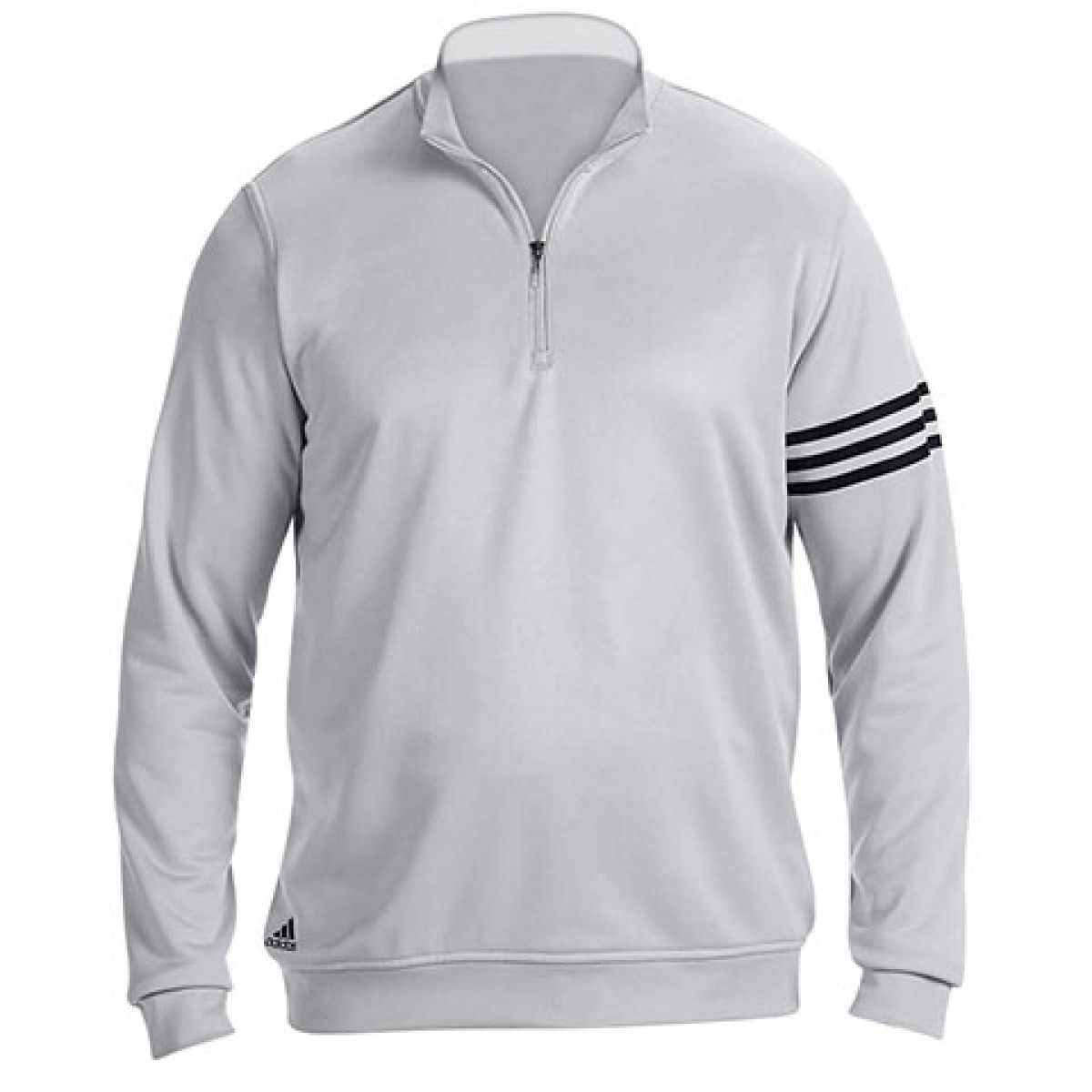 Adidas Men's 3-Stripes Pullover-Gray -S