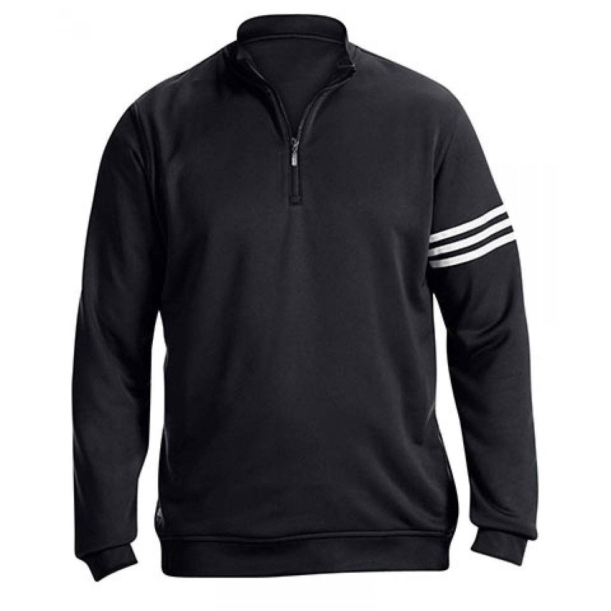 Adidas Golf Men's ClimaLite® 3-Stripes Pullover-Black-2XL