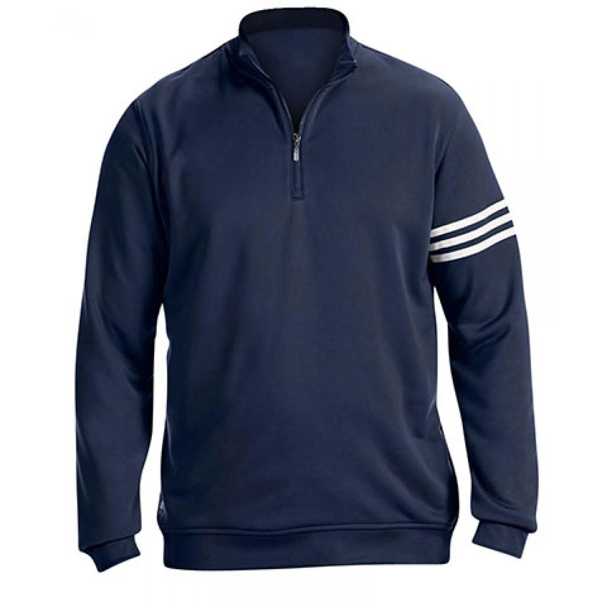 Adidas Men's 3-Stripes Pullover-Navy-S