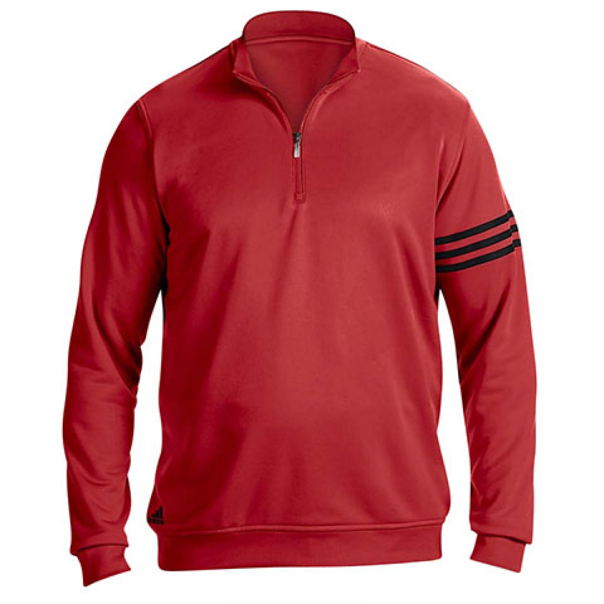Adidas Men's 3-Stripes Pullover-Red-2XL