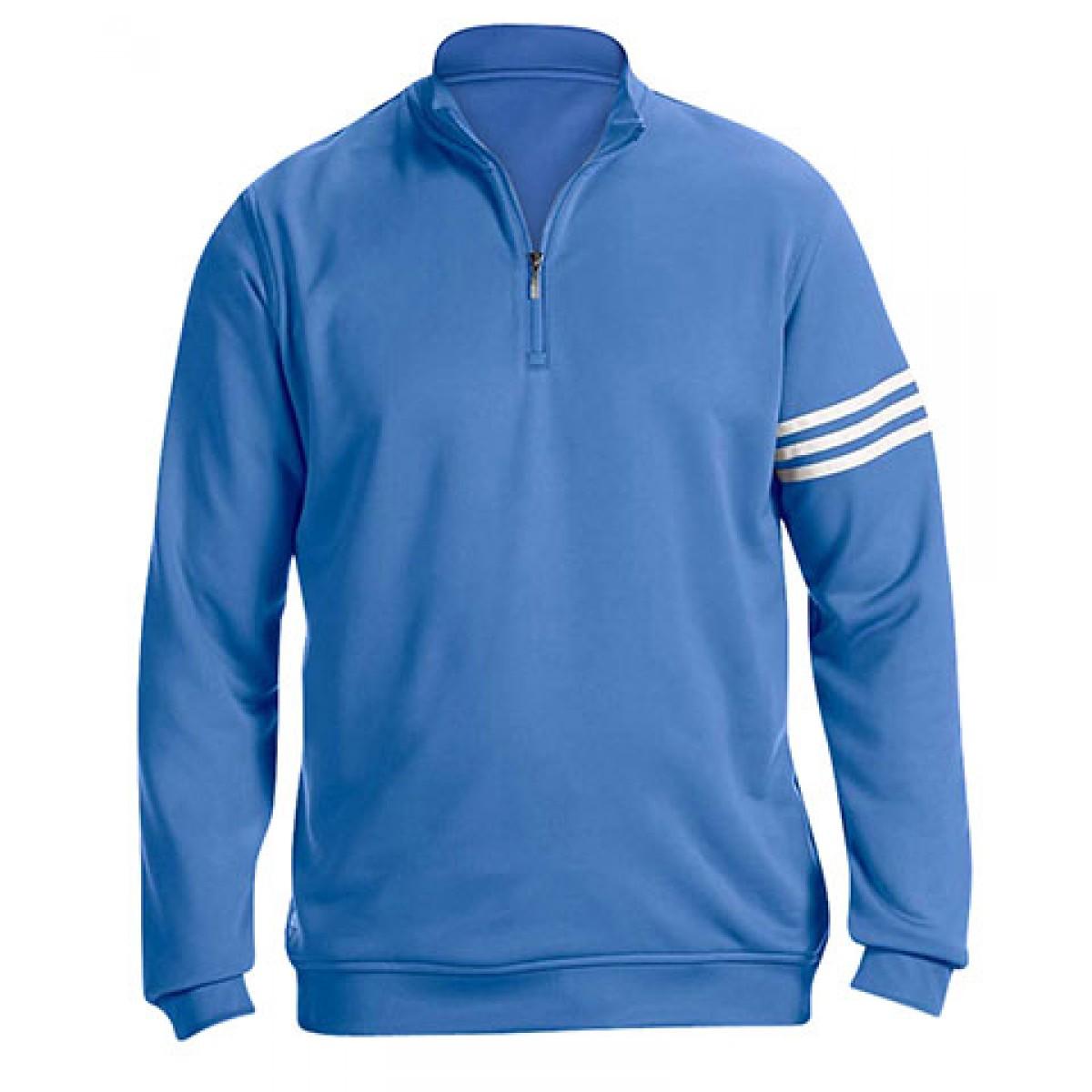 Adidas Golf Men's ClimaLite® 3-Stripes Pullover-Blue-L