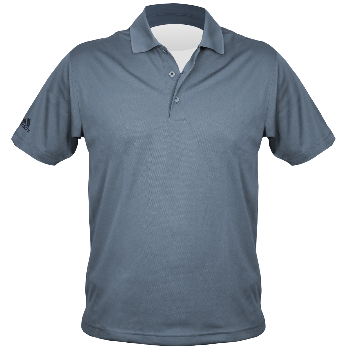 Embroidered Adidas Men's Polo-Charocal-S