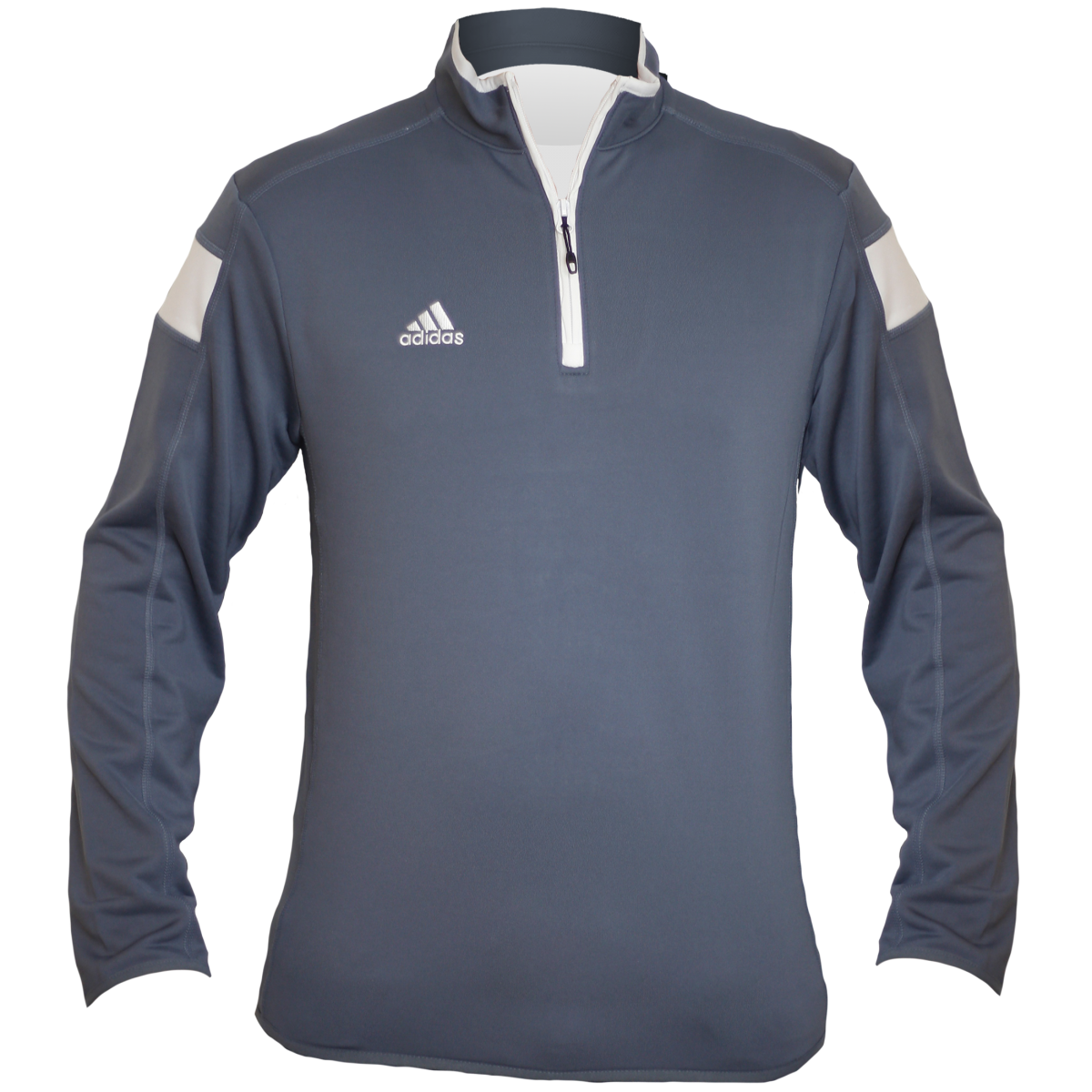 Embroidered Adidas Quarter Zip -Gray -M