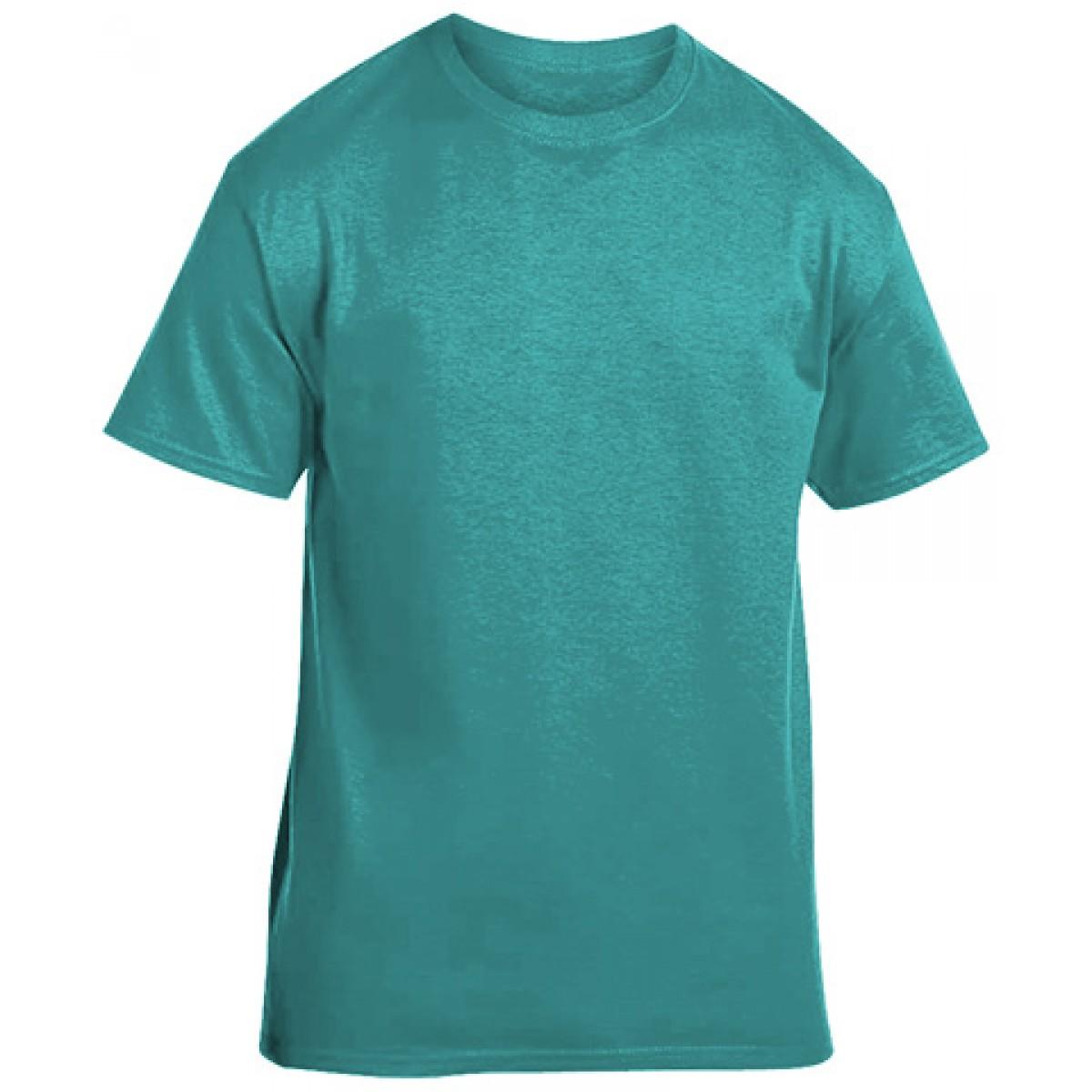 Soft 100% Cotton T-Shirt-Jade-3XL