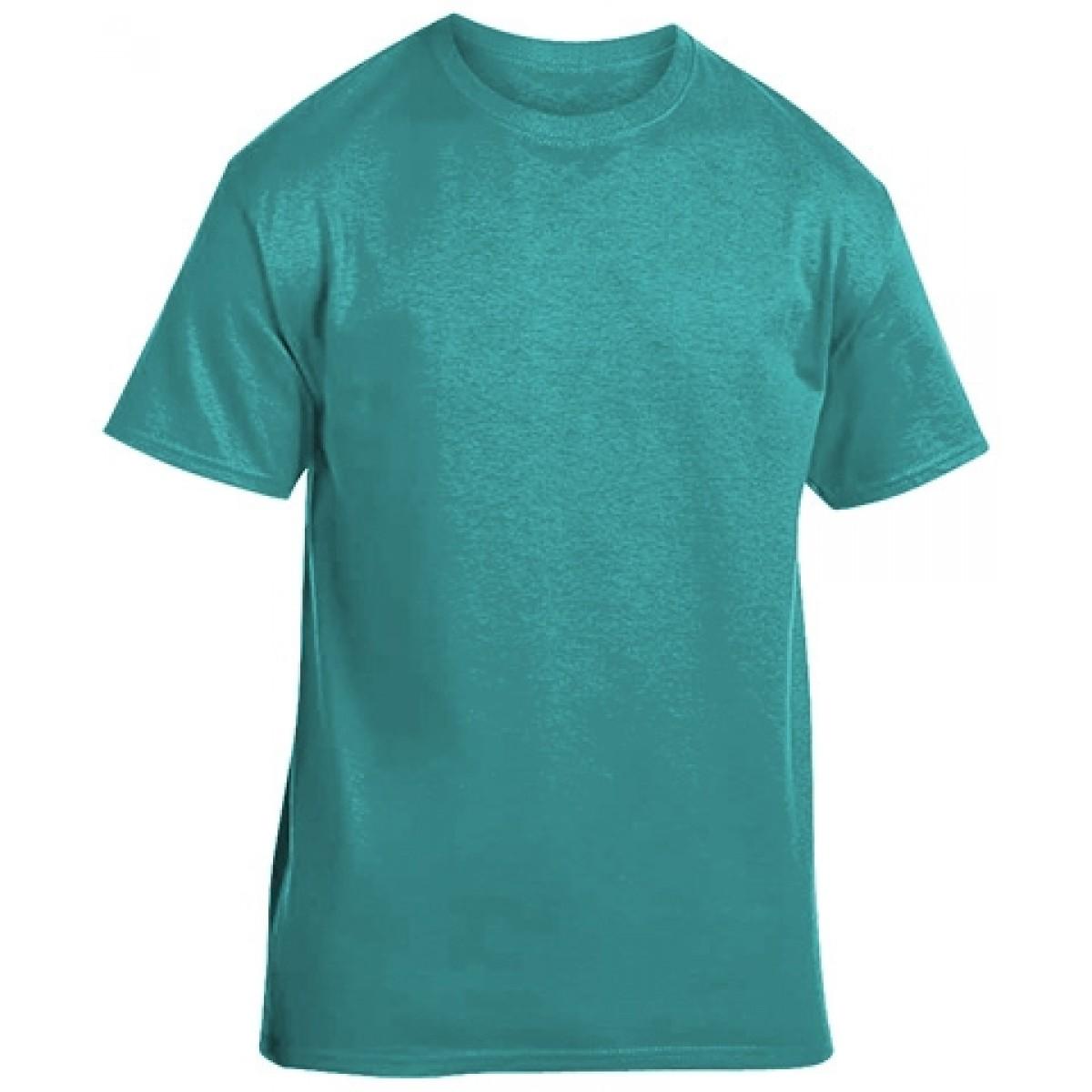 Soft 100% Cotton T-Shirt-Jade-YL