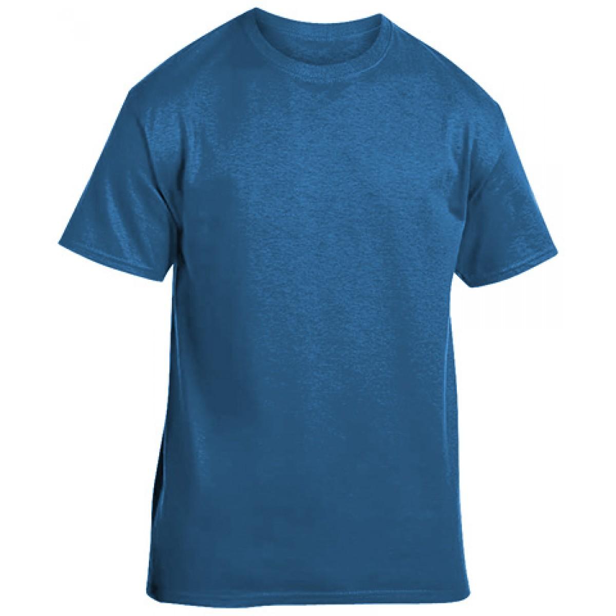 Soft 100% Cotton T-Shirt-Sapphire-3XL