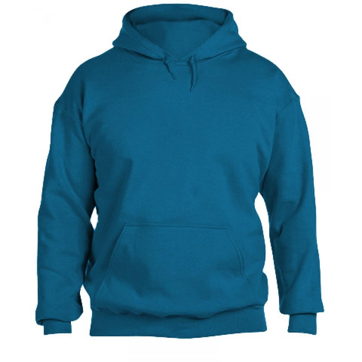 Hooded Sweatshirt 50/50 Heavy Blend -Sapphire-L