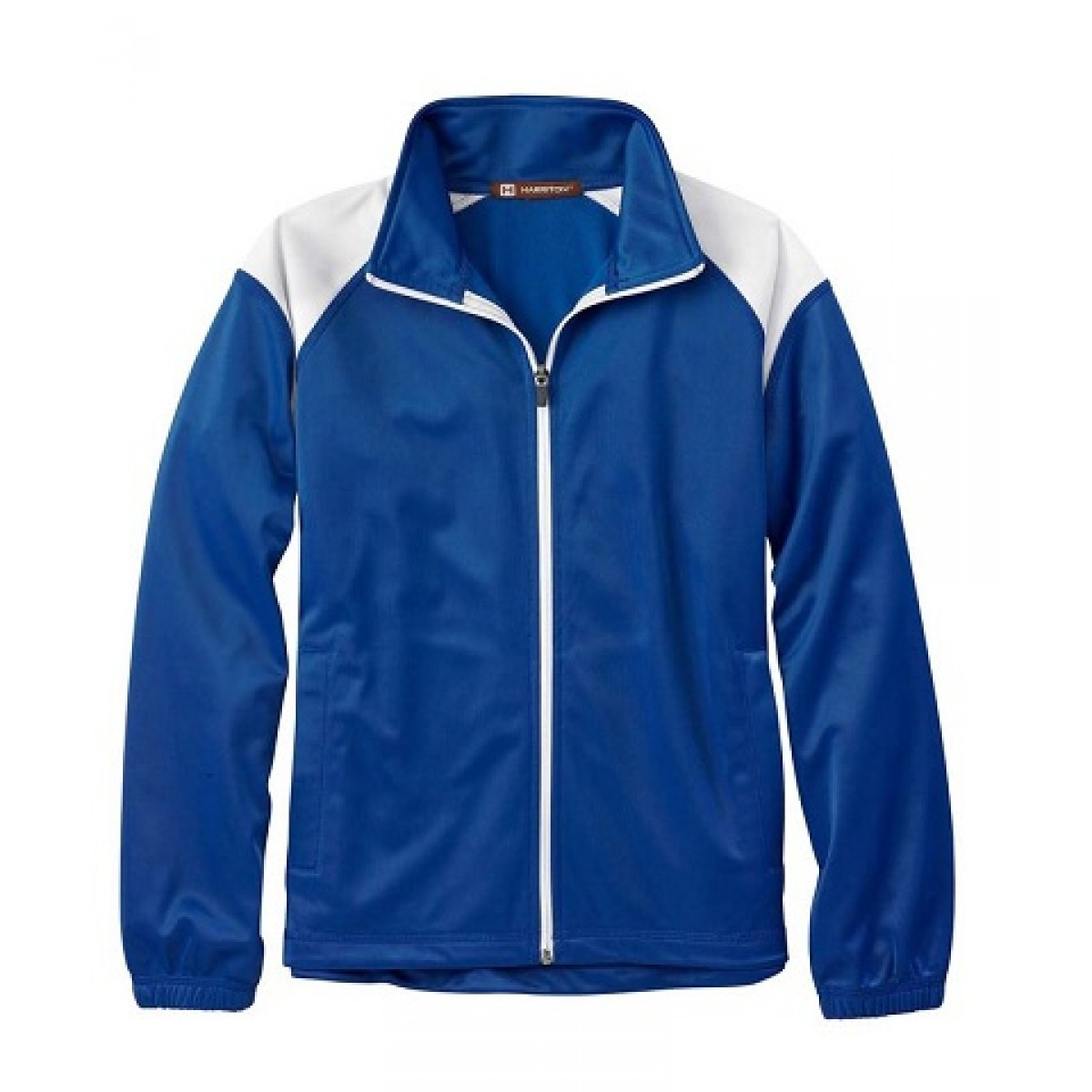 Embroidered Blue Tricot Track Jacket-Blue-S