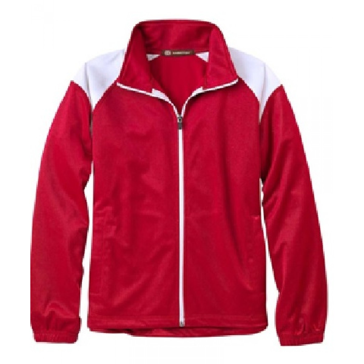 Embroidered Red Tricot Track Jacket-Red-L