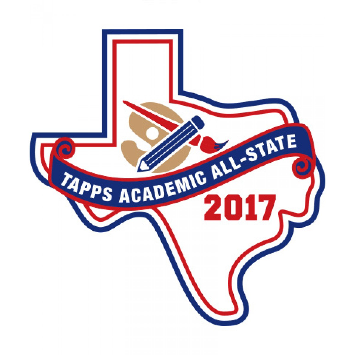 Felt 2017 TAPPS Academic All-State Art & Academic Patch