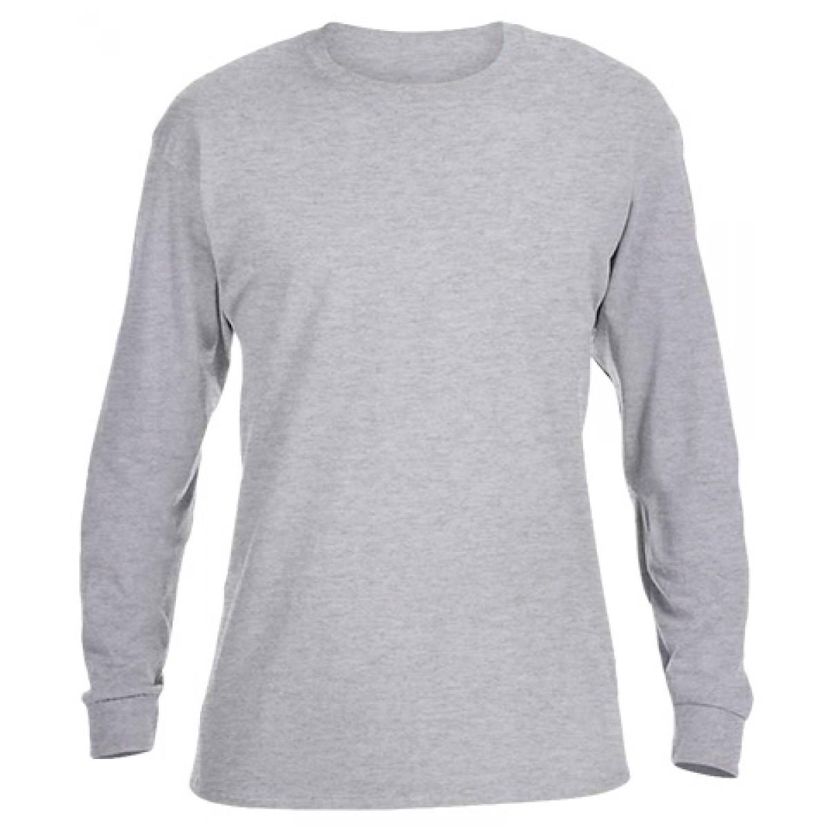 Ultra Cotton Long-Sleeve T-Shirt-Ash Gray-XL