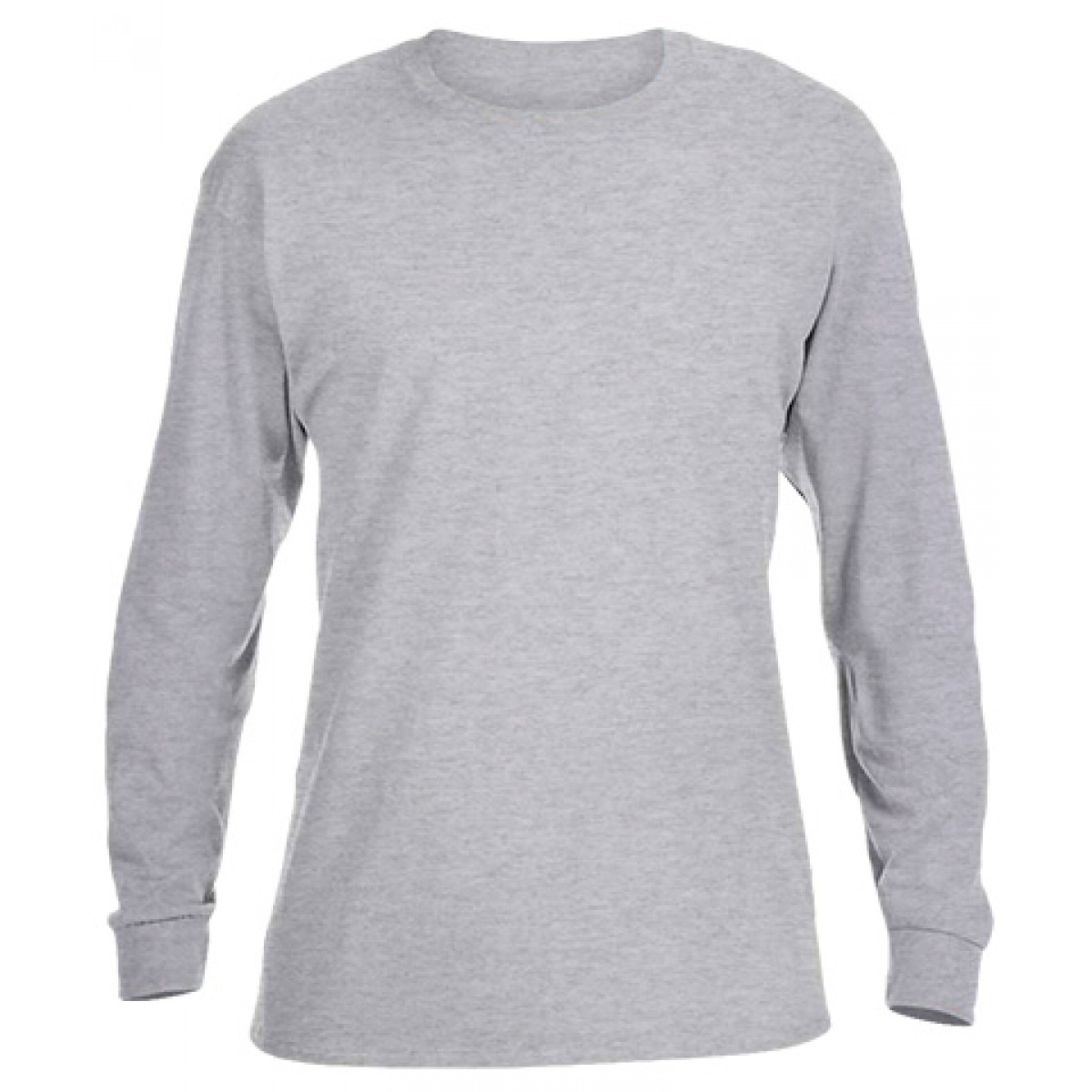 Ultra Cotton Long-Sleeve T-Shirt-Ash Gray-YL