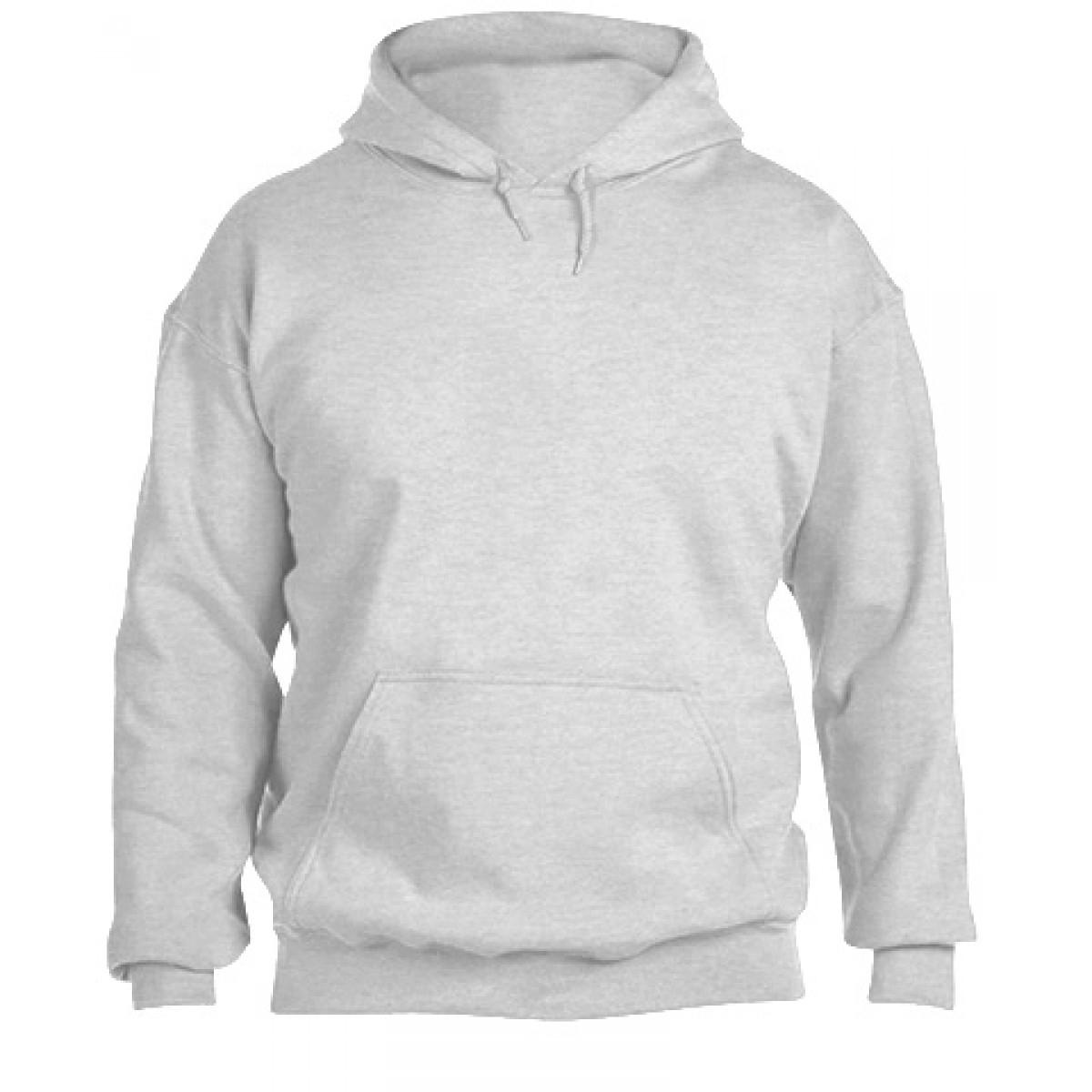 Solid Hooded Sweatshirt  50/50 Heavy Blend-Ash Gray-YM
